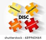 disc  dominance  influence ... | Shutterstock .eps vector #689960464