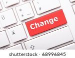 change ahead concept with key... | Shutterstock . vector #68996845
