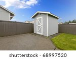Back Fenced Yard With Small...