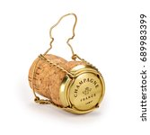 Champagne Cork With Text On Ca...