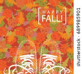 autumn banner with the words... | Shutterstock .eps vector #689985901