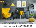 workspace for teenager with... | Shutterstock . vector #689989237