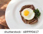 Fried Steak With Egg