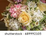 flower decor | Shutterstock . vector #689992105