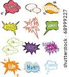 cartoon comic speech icon   Shutterstock .eps vector #68999227
