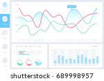 dashboard infographic template... | Shutterstock .eps vector #689998957