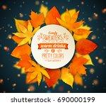 autumn season banner. greeting... | Shutterstock .eps vector #690000199