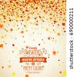 autumn season banner. beautiful ... | Shutterstock .eps vector #690000211
