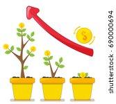 financial  growth  making money ... | Shutterstock .eps vector #690000694