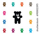Isolated Cuddly Icon. Bear...