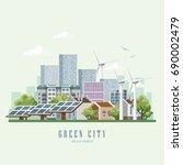 green city vector concept.... | Shutterstock .eps vector #690002479