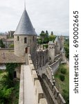 Small photo of The medieval city of Carcassonne, located between Toulouse and Montpellier in Languedoc-Roussillon, is one of the main fortresses of Albigensian crusade. It's now in the list of UNESCO.