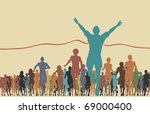 colorful editable vector... | Shutterstock .eps vector #69000400