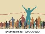 colorful editable vector... | Shutterstock .eps vector #69000400