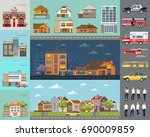 big city concept.... | Shutterstock .eps vector #690009859