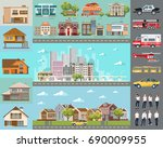 big city concept.... | Shutterstock .eps vector #690009955