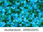 light blue  green vector... | Shutterstock .eps vector #690010351
