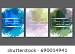 vector business cards.  vector... | Shutterstock .eps vector #690014941