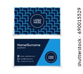 business card template with... | Shutterstock . vector #690015529