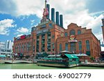 Small photo of BALTIMORE - CIRCA JULY 2009: Hard Rock Cafe Power Plant circa July 2009 in Baltimore Maryland, USA. Hard Rock has amassed one of the largest collections of rock and roll memorabilia.