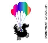 unicorn vector icon. cute magic ... | Shutterstock .eps vector #690028384