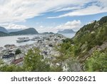 alesund city view from south of ... | Shutterstock . vector #690028621