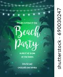 beach party vector illustration ... | Shutterstock .eps vector #690030247
