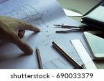 the architects 'and engineers'... | Shutterstock . vector #690033379