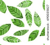 seamless raster pattern with... | Shutterstock . vector #690035827