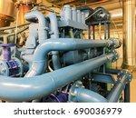 emergency diesel generator for... | Shutterstock . vector #690036979
