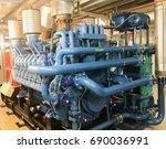 emergency diesel generator for... | Shutterstock . vector #690036991