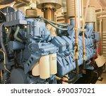 emergency diesel generator for...   Shutterstock . vector #690037021