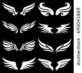 wing icons set  wing logo... | Shutterstock .eps vector #690041869