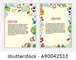 back to school flyer template... | Shutterstock .eps vector #690042511
