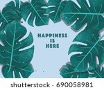 tropical background for your... | Shutterstock .eps vector #690058981