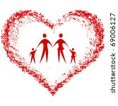 family vector with hand drawn... | Shutterstock .eps vector #69006127