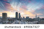london sunrise skyline | Shutterstock . vector #690067327