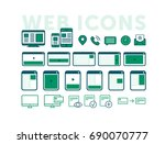 set of icons with browser...
