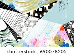 abstract geometric pattern... | Shutterstock .eps vector #690078205