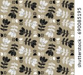 floral seamless pattern with... | Shutterstock .eps vector #690085195