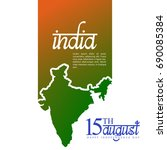 happy indian independence day... | Shutterstock .eps vector #690085384
