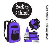 back to school concept with...   Shutterstock .eps vector #690091399