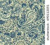damask style seamless pattern.... | Shutterstock .eps vector #690112051