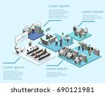 isometric conference hall ... | Shutterstock .eps vector #690121981