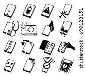 repair phones fix icons set.... | Shutterstock .eps vector #690123151