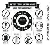 artist tool infographic banner... | Shutterstock .eps vector #690124024