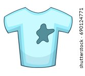 stains on t shirt icon. cartoon ... | Shutterstock .eps vector #690124771