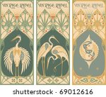 Stock vector  vintage labels fish and poultry 69012616