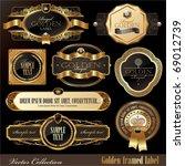 vector set of golden luxury... | Shutterstock .eps vector #69012739