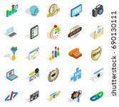 call icons set. isometric set... | Shutterstock .eps vector #690130111